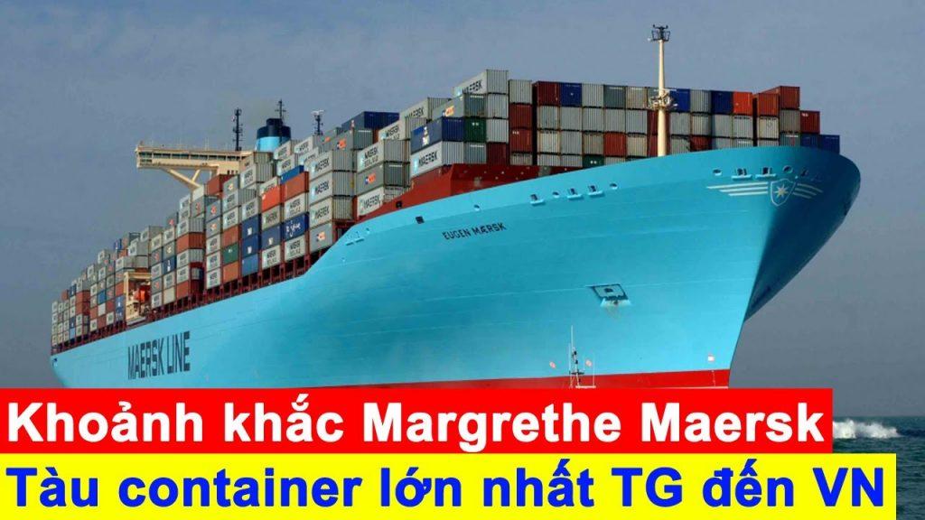 Container Margrethe Maersk Đến Bến Cảng Cái Mép Thị Vãi